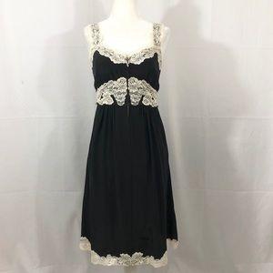 Betsey Johnson Vintage Black Silk Slip Dress 2